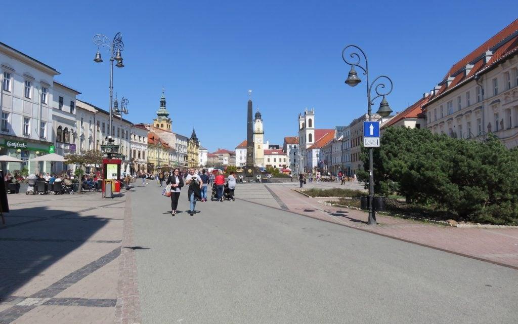Eindruck vom Platz des Slowakischen Nationalaufstandes (Námestie SNP)