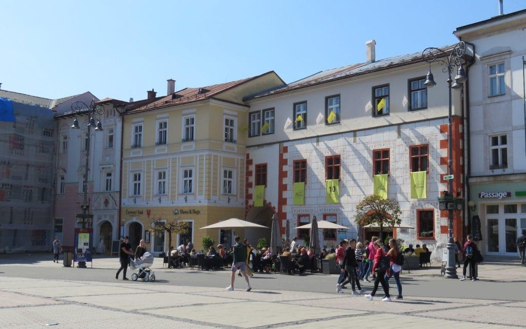 Historische Häuser mit Restaurants