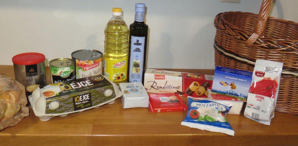 Sonstige Lebensmittel die wir in der Slowakei gekauft haben