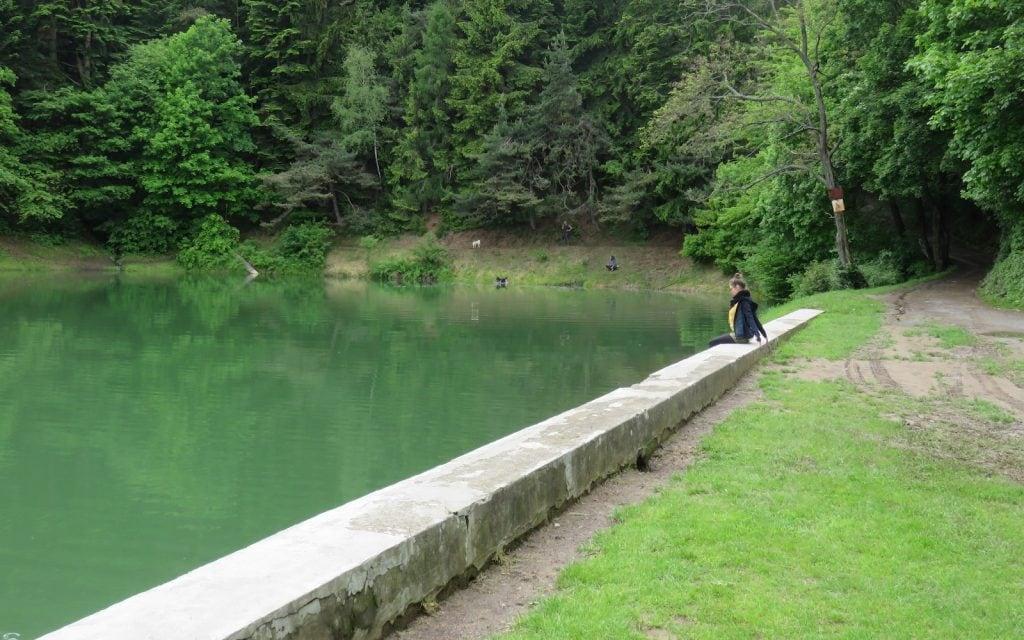 Blick auf den Klinger Teich