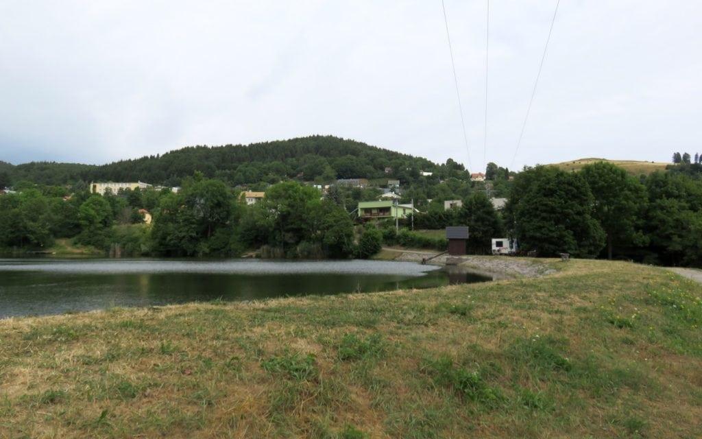 Teich Evicka in Stiavnicke Bane