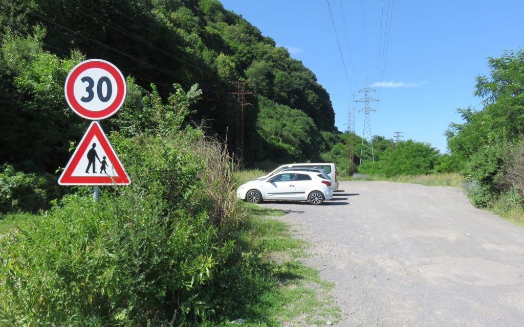 Parkplatz zum Pusty Hrad