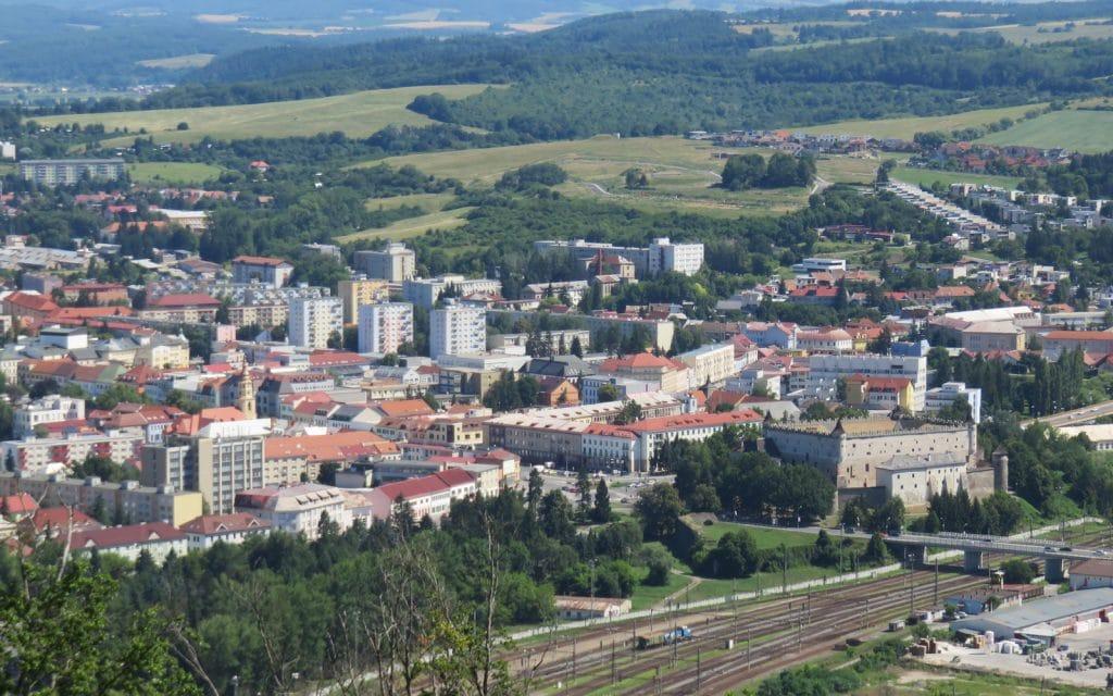 Ausblick auf die Innenstadt von Zvolen