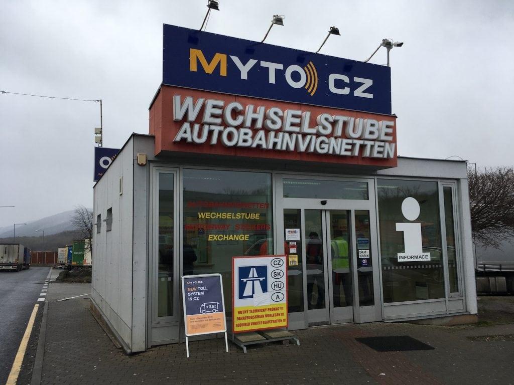 Vorverkaufsstelle für die Tschechische Vignette
